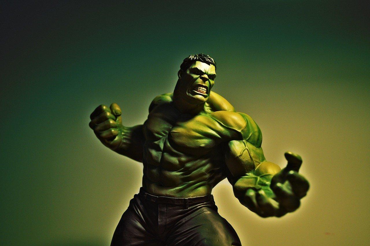 décoration Marvel : tableau de Hulk